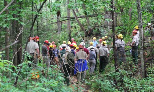 Participants at recent upland hardwoods course at Bent Creek Experimental Forest. Photo by Julia Kirschman.