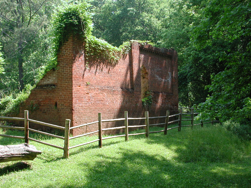 Ruined building at Scull Shoals on the Oconee National Forest. Photo by U.S. Forest Service.