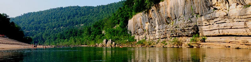 The Buffalo River flows into the Ozark National Forest in Arkansas. Photo by National Park Service.