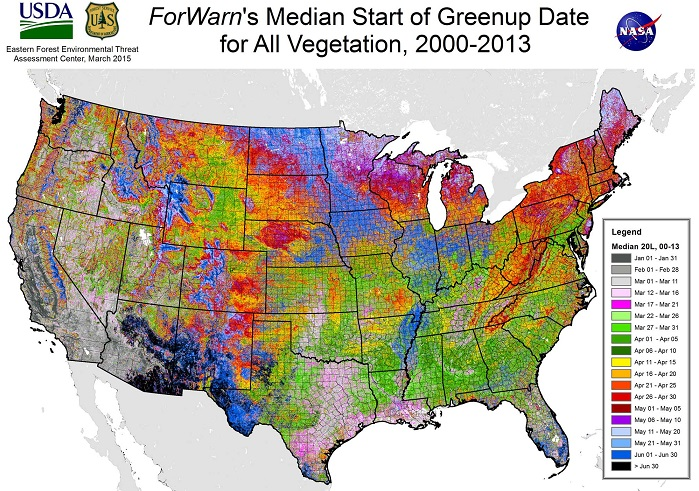 Forest Service Researchers Map Seasonal Greening in U.S. Forests ...