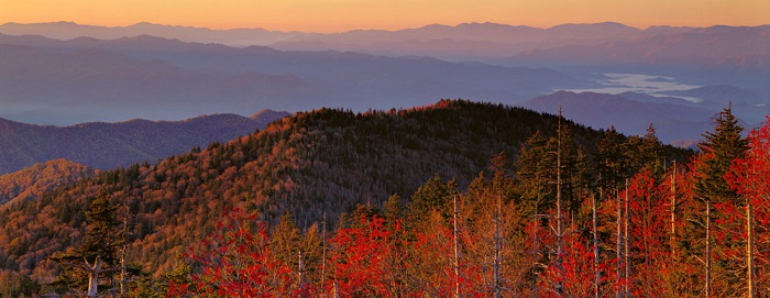 Great Smoky Mountains National Park near Knoxville, Tennessee. Photo by National Park Service.