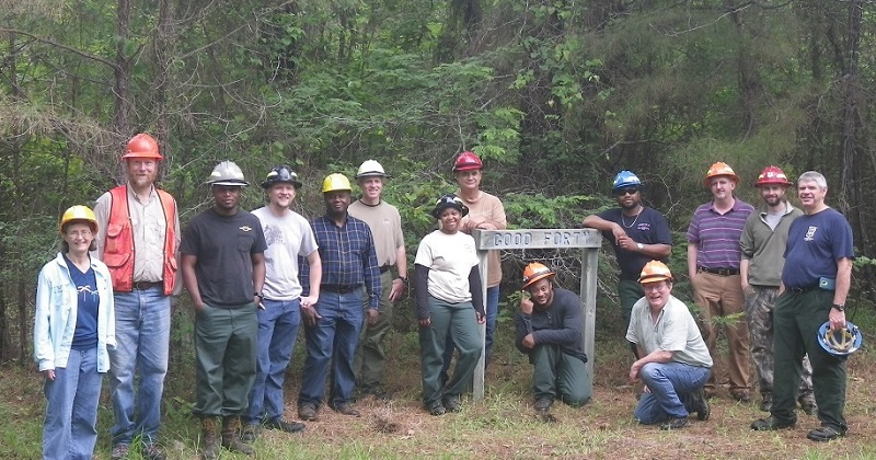 NASP attendees at session held at the Crossett Experimental Forest in Arkansas. Photo courtesy of the U.S. Forest Service.