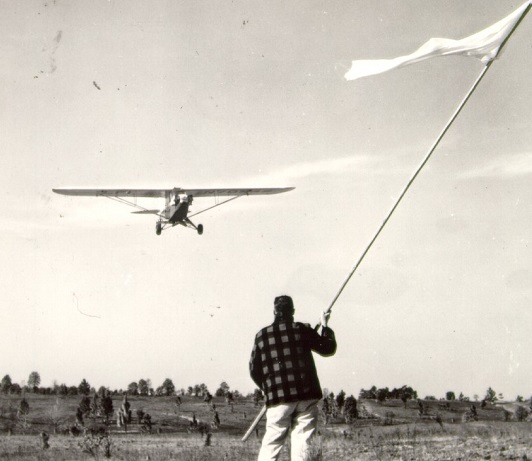 Tracts of land larger than 500 acres were often reseeded by plane. Photo by U.S. Forest Service.