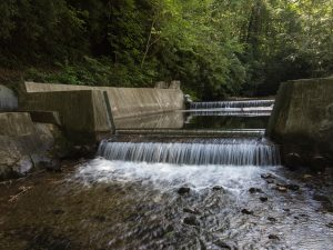 Weir measuring streamflow
