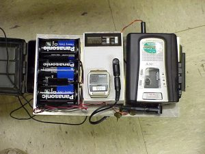 tape recorder and a timer
