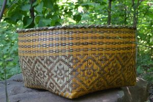 intricately woven basket