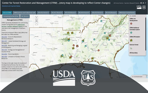 Center for Forest Restoration and Management Story Map