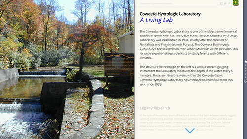 Forests as Faucets: Research of the Coweeta Hydrologic Laboratory