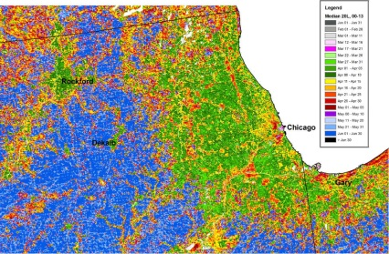 Researchers Map Seasonal Greening In US Forests Fields And - Vegetation map us