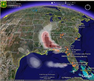 Daily Smoke Forecasts Within Google Earth
